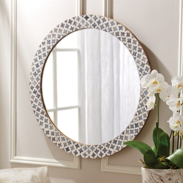 We Share Round Mirror With Bone Inlaybritish Home Emporium Medium