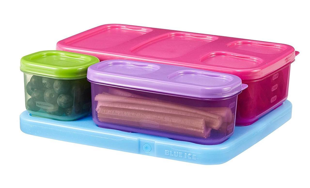 we share rubbermaid lunchblox kids flat lunch container kit