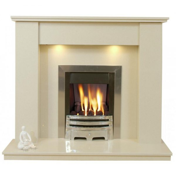 We Share Trent Marble Fireplace Hearth   Back Panel Medium