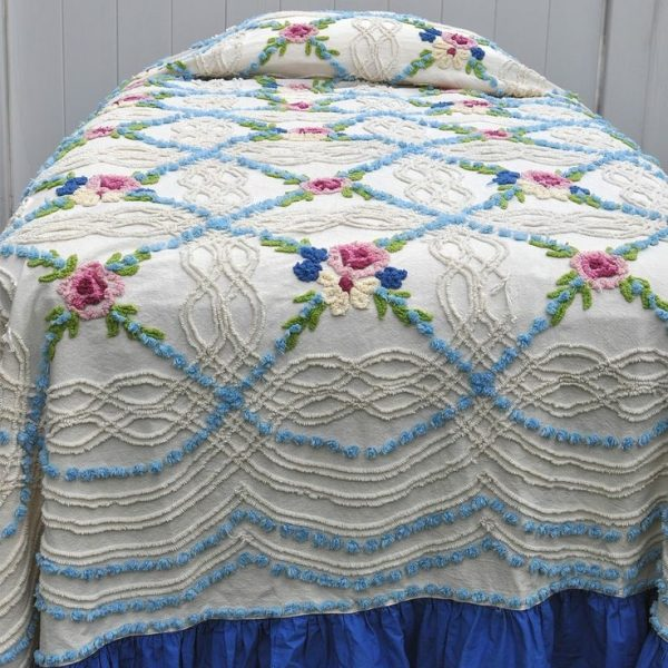 We Share Vintage Chenille Bedspread Medium