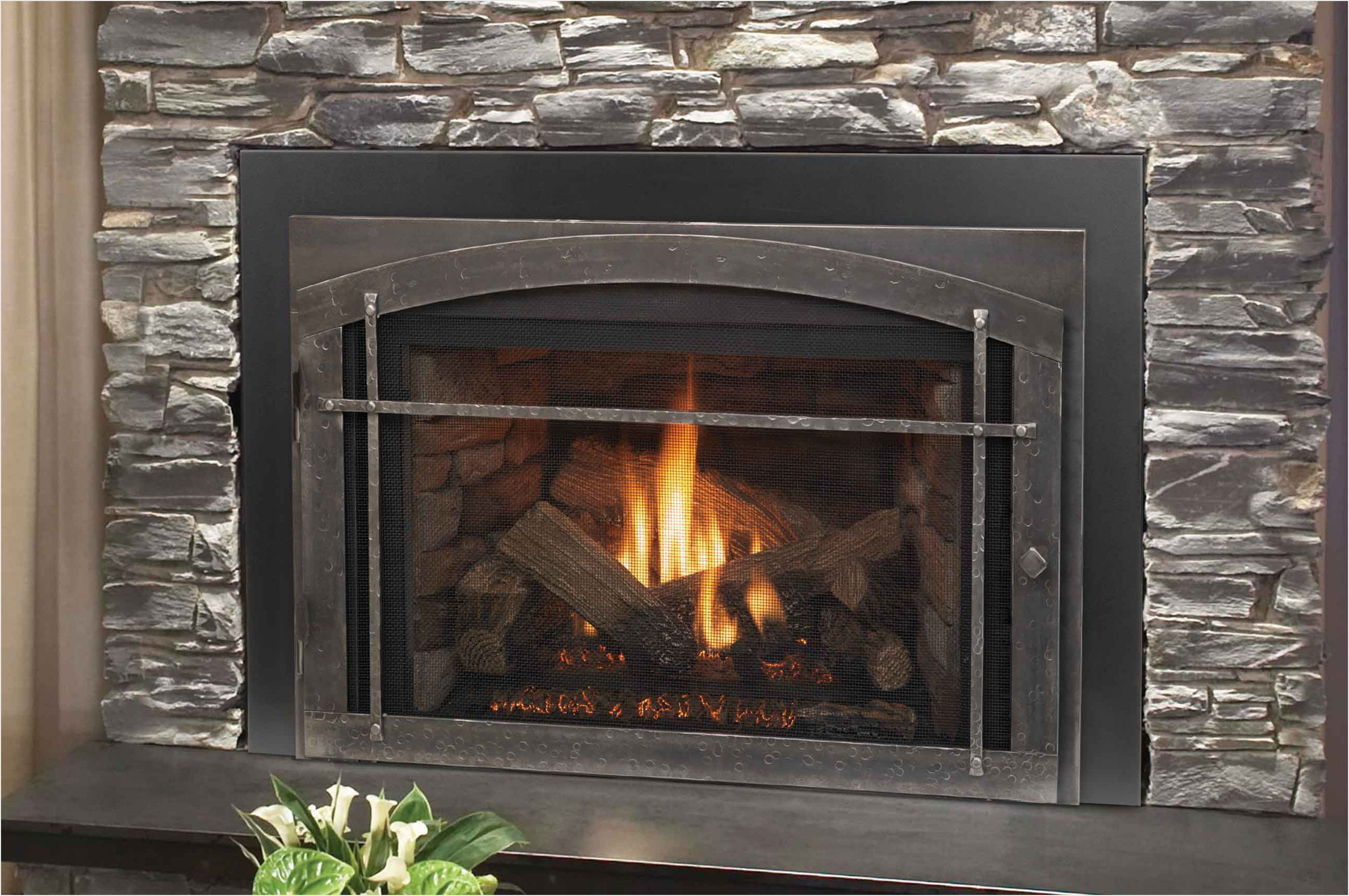 wood burning insert for prefab fireplace fireplace