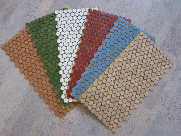 1 Cork Mosaic Tile For Floors Walls Bathroom Kitchen Medium