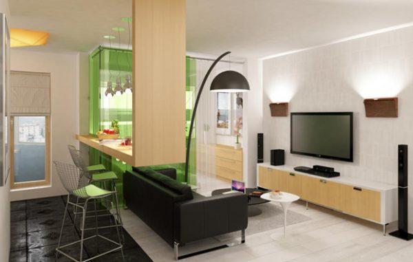 10 Great Small Studio Apartment Interior Design Featured Medium