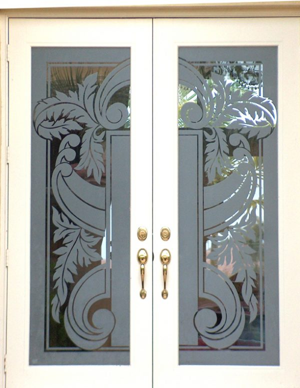 Clever Rose Wood Furniture Etching Glass Designs
