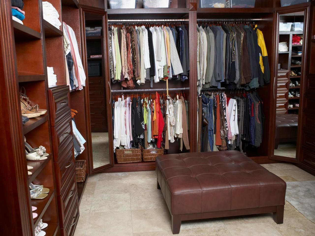 clever walkin closet design ideashgtv