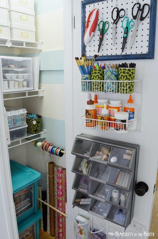 Craft Closet Organization Ideas Wrapping Paper Ribbon Medium