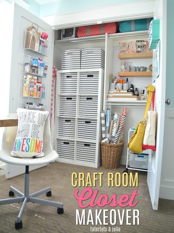 Craft Room Closet Makeover Organizing Medium