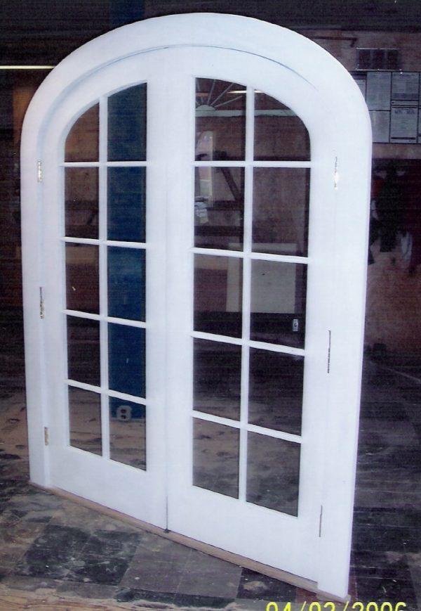 Example Of A Arch Top Doors  Custom Made Built Wood  Interior Exterior Medium