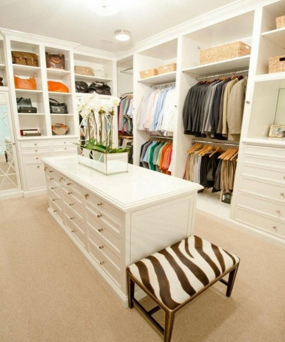 example of a stylish and chic walkin closet interior design ideas