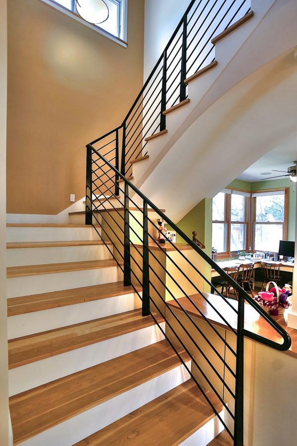 Fresh Contemporary Staircase With Black Handrailshgtv Medium