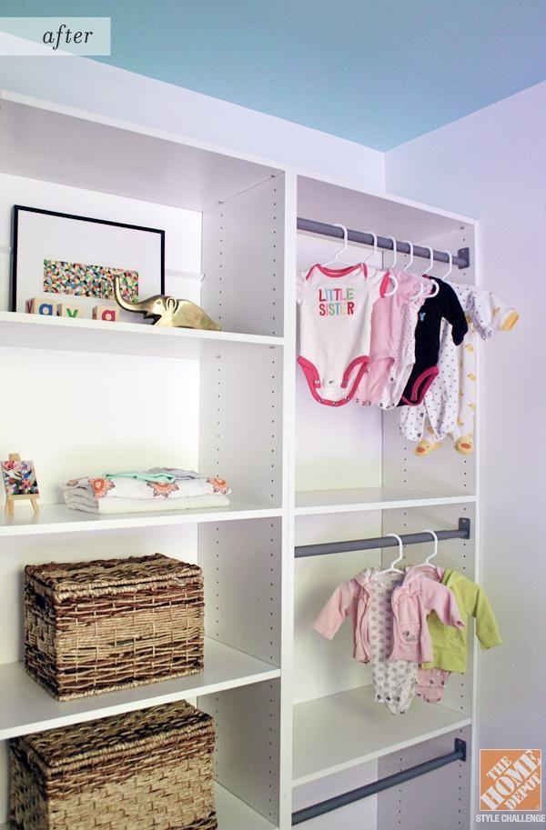 get closet organization ideas for a nursery the home depot