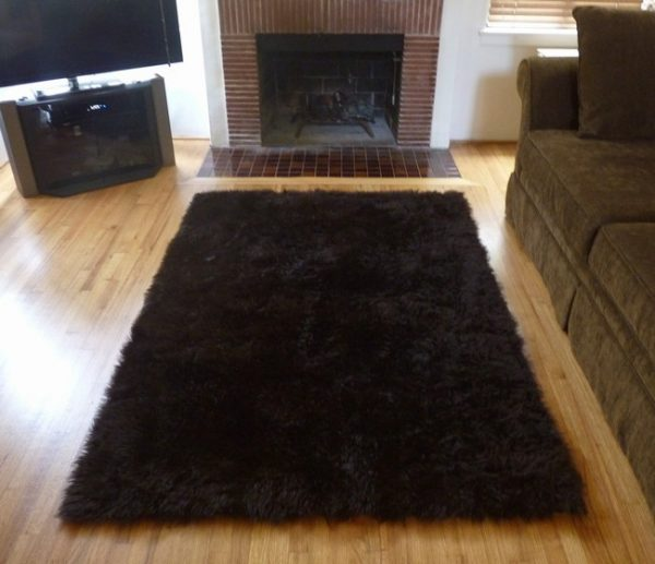 Innovative Super Plush Brown Faux Fur Area Rug From France Medium