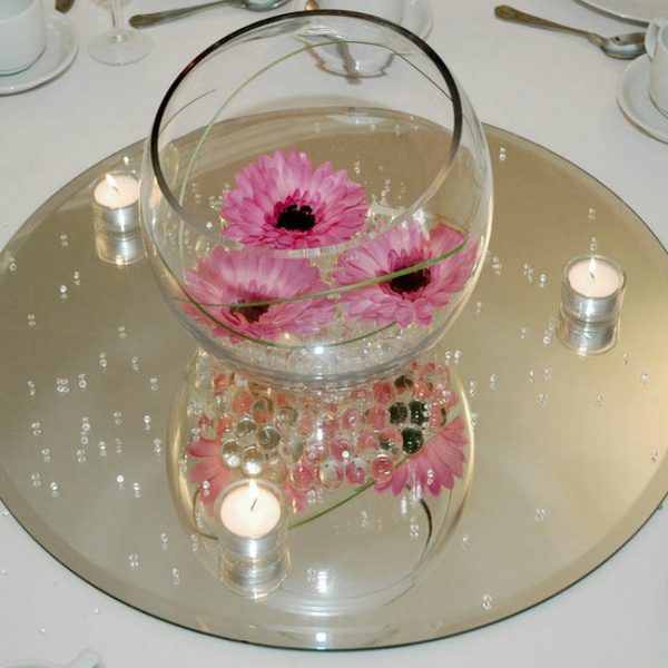 Inspiration Clear Mirror Base For Centerpieces Round Squareebay Medium