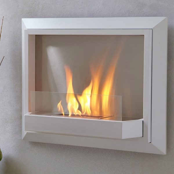 Inspiration Envision Whiteventless Gel Wall Fireplace By Real Flame Medium