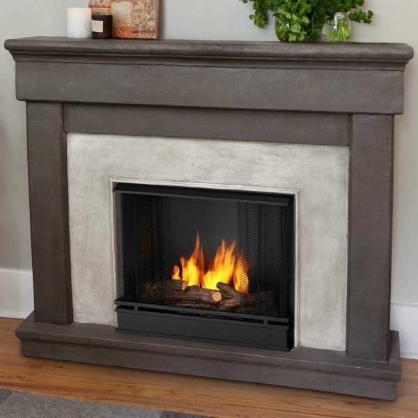 Inspiration Real Flame Cast Mantel Cascade Wall Mount Gel Fuel Medium
