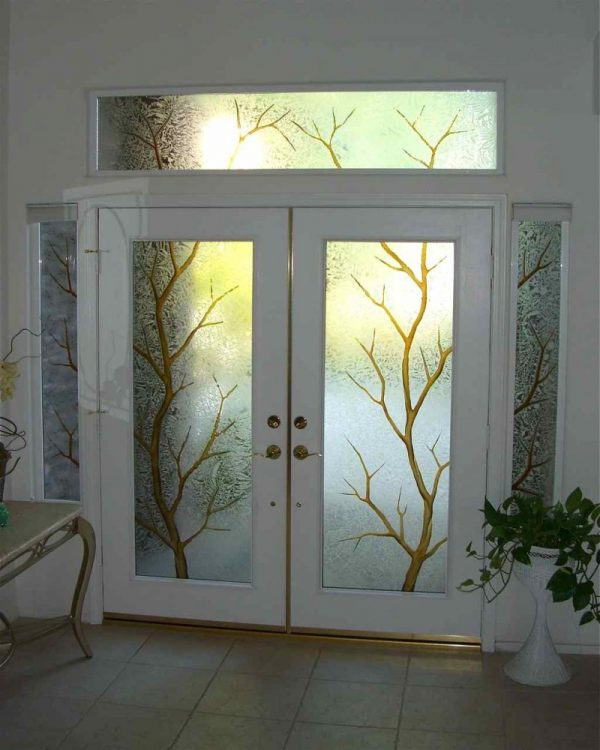 Inspirational Entry Glass Sans Soucie Art Glass Medium