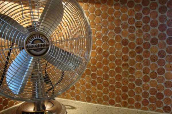 Jelinek Cork Mosaic Floor   Wall Tilescork Penny Round Medium