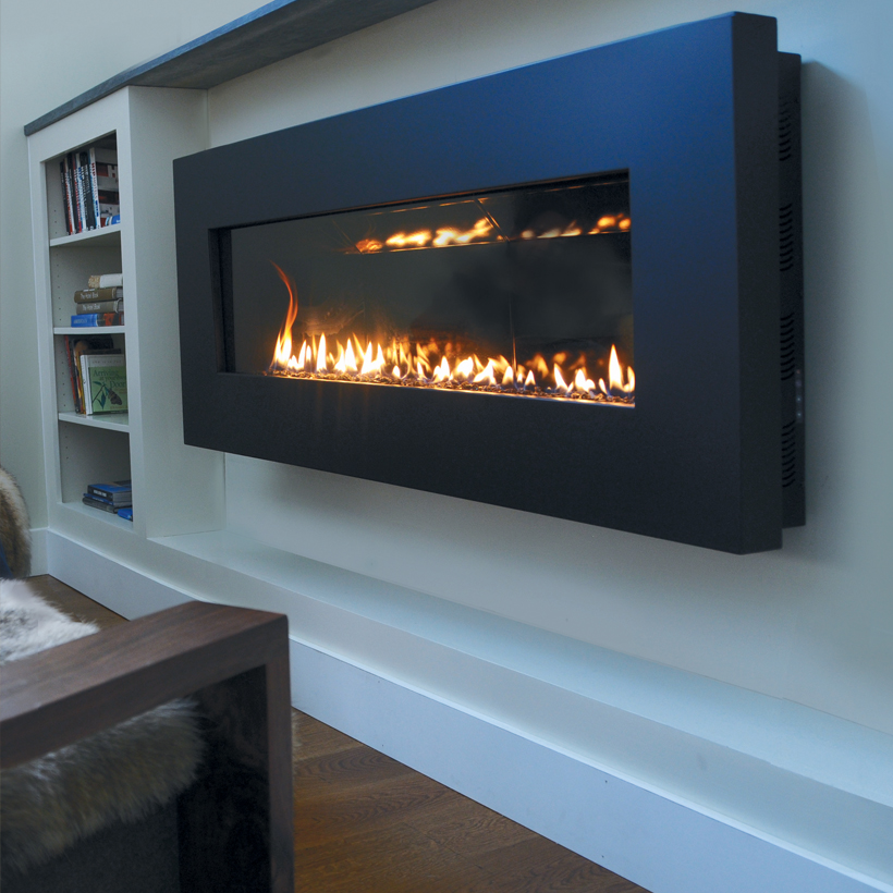 our favorite fire ribbon direct vent slim spark modern fires
