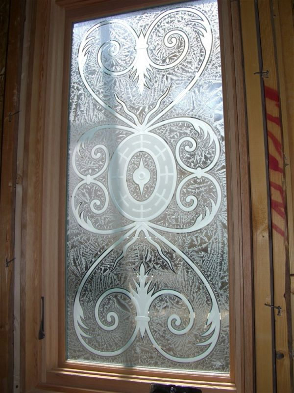 Our Favorite Lazio Glass Window Etched Glass Tuscan Design Medium