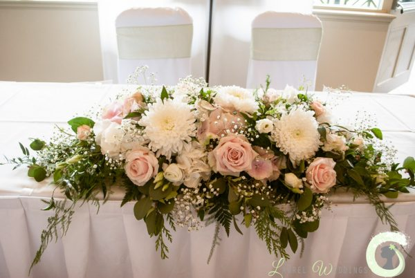 Simply Blush Pink And Cream Wedding Flowers At The Mere Resort Medium
