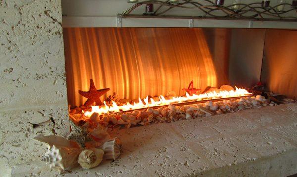 Style Chicago Residence Fiamma Ribbon Burner Stainless Steel Medium
