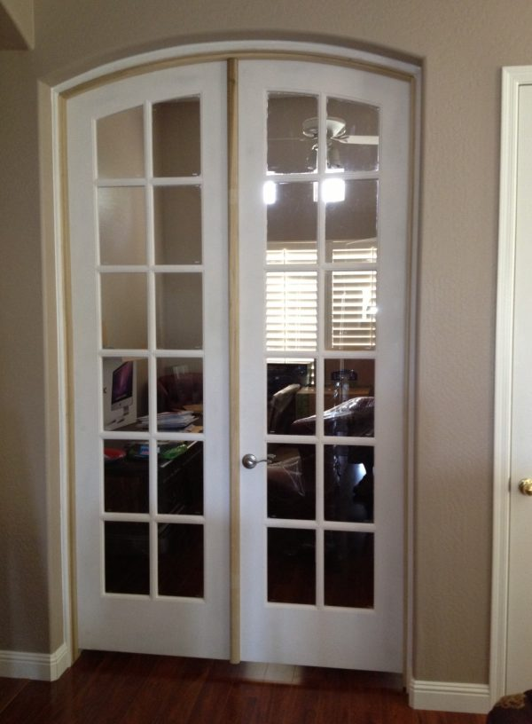 Tips Amazing Arched Interior French Doors  5 Arched Top French Medium