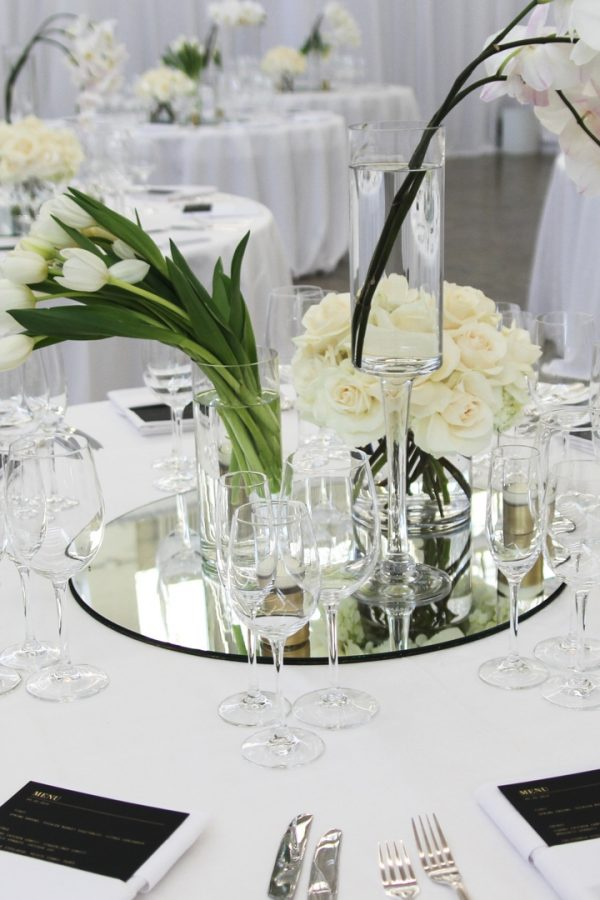 Top Table Mirror Centerpiece Round Tabletop Centerpiece Mirror Medium