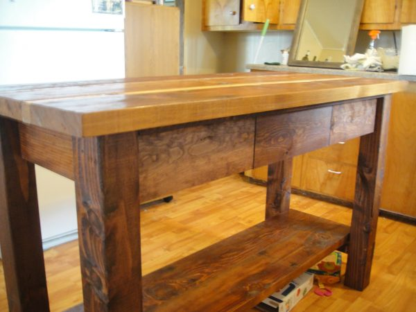 Ana WhiteKitchen Island From Reclaimed Wood DIY Projects Medium
