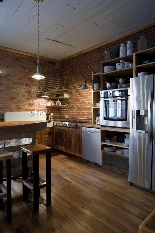 Best Modern Furniture Traditional Kitchen With Brick Walls Medium