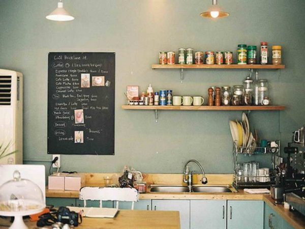Best Small Black Chalkboard Ideas With Wooden Countertop And L Medium