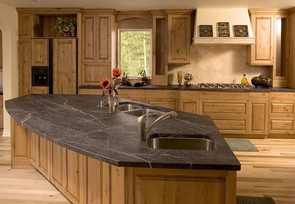 Best Soapstone Countertop Rustic Kitchen Atlanta By Medium