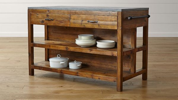 Bluestone Reclaimed Wood Large Kitchen IslandCrate And Medium