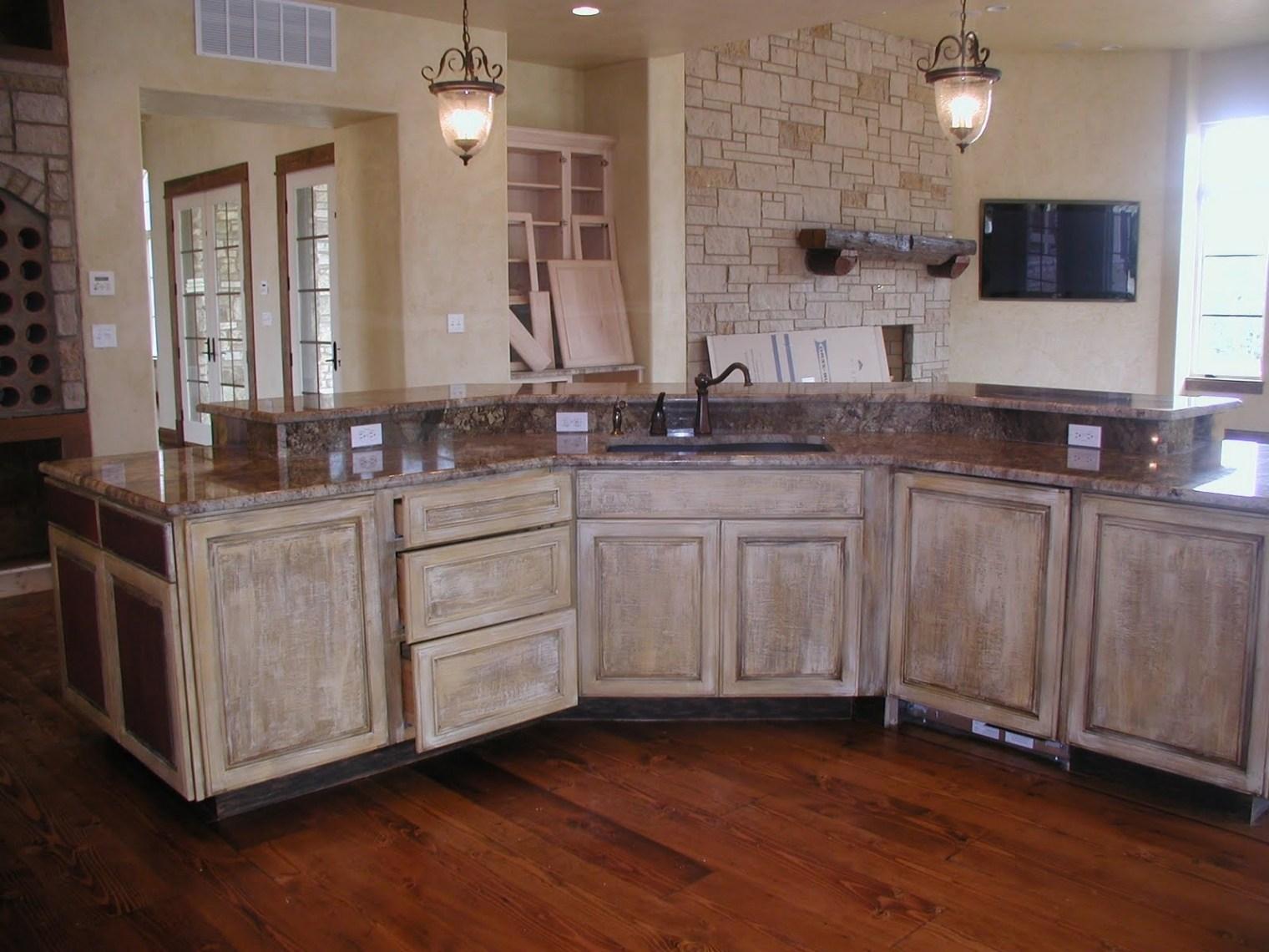 Browse Pickled Finish Kitchen Cabinets Kitchen Design ...