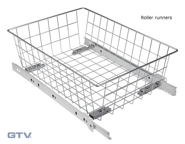 Browse Pull Out Wire Basket Drawer Soft Close Full Extension Medium