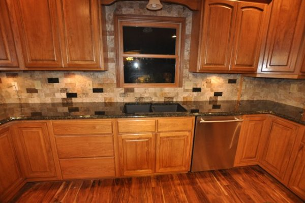 Clever Granite Countertops And Tile Backsplash Ideas Eclectic Medium