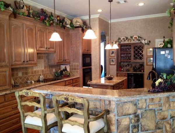 Creative  Wine Themed Kitchen Medium