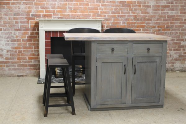 Custom Reclaimed Wood Kitchen Island Lake And Mountain Home Medium