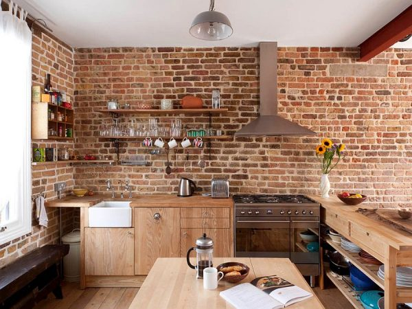 Example Of A 50 Trendy And Timeless Kitchens With Beautiful Brick Walls Medium