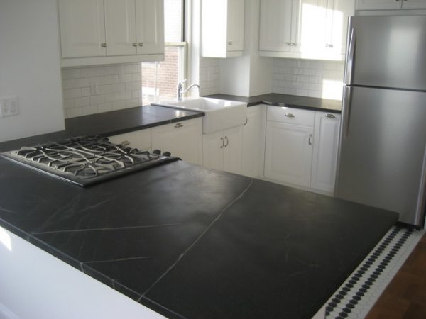 Example Of A Soapstone Kitchen Countertop In Downtown Manhattan Medium