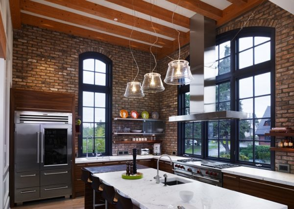 Explore 74 Stylish Kitchens With Brick Walls And Ceilings Digsdigs Medium