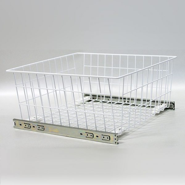 Fresh Wardrobe Pull Out Wire Baskets In White In Sizes 300 400 Medium