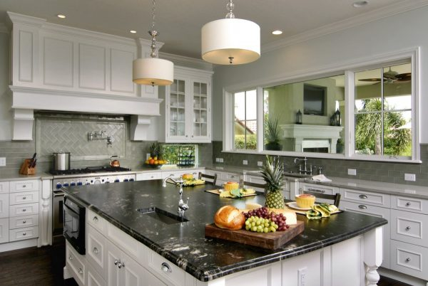 Innovative Titanium Granite White Cabinets Backsplash Ideas Medium
