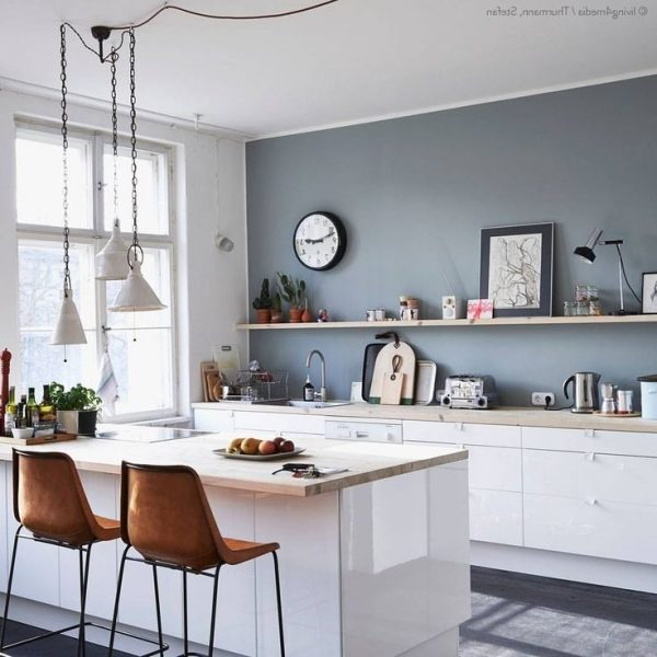 Inspirational Colors For Kitchens With White Cabinets Medium