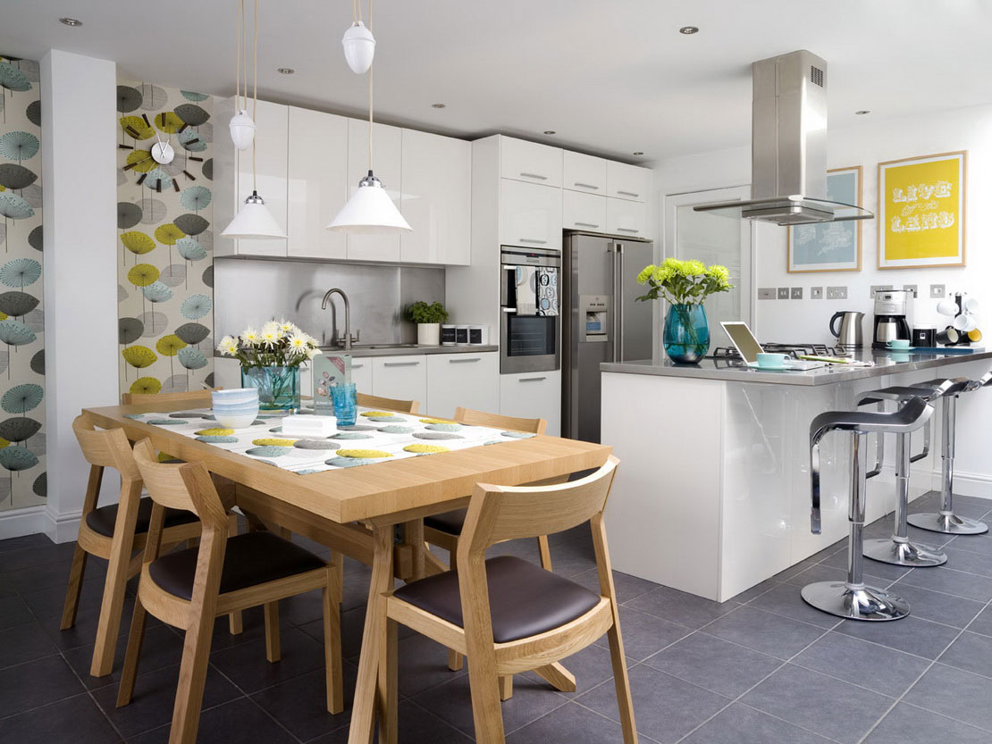 inspirational open kitchen design for spacious cooking space concept