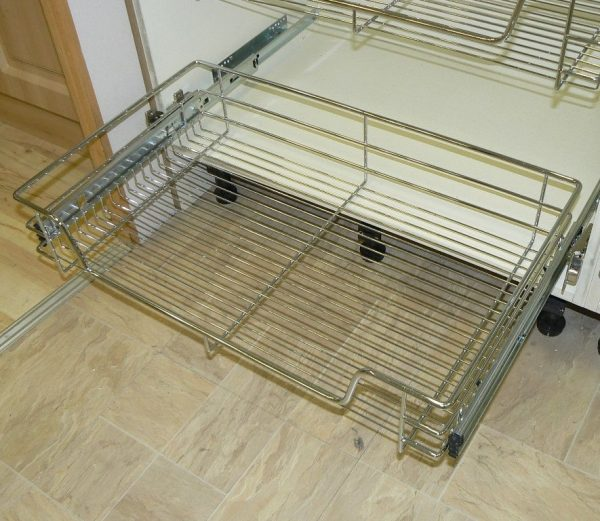 Inspirational Pull Out Wire Basket Chrome Kitchen Bedroom Drawer All Medium