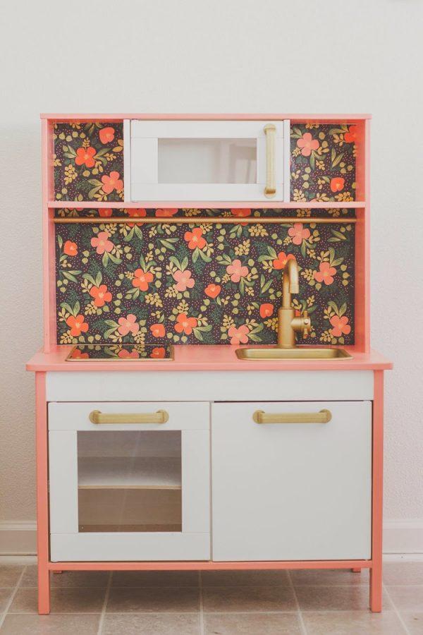 La Mini Cuisine Ikea Duktig With Floral Sticker Medium