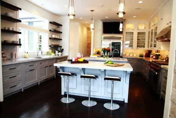 Light Gray Kitchen Cabinets Contemporary Kitchen Medium