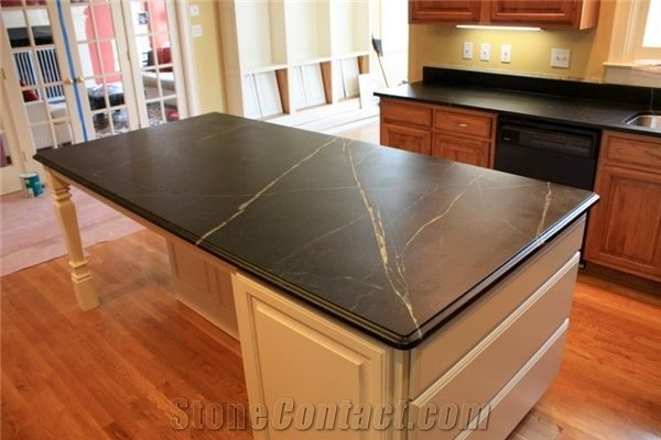 Looking Black Minas Soapstone Countertop From United States Medium