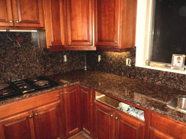 Looking Kitchen Granite Counter Topshome Improvement Medium