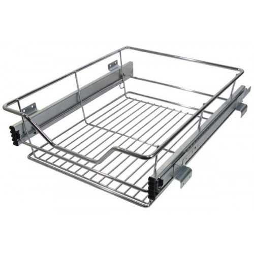 Looking Pull Out Wire Larder Basket Set For 300mm Kitchen Cabinets Medium